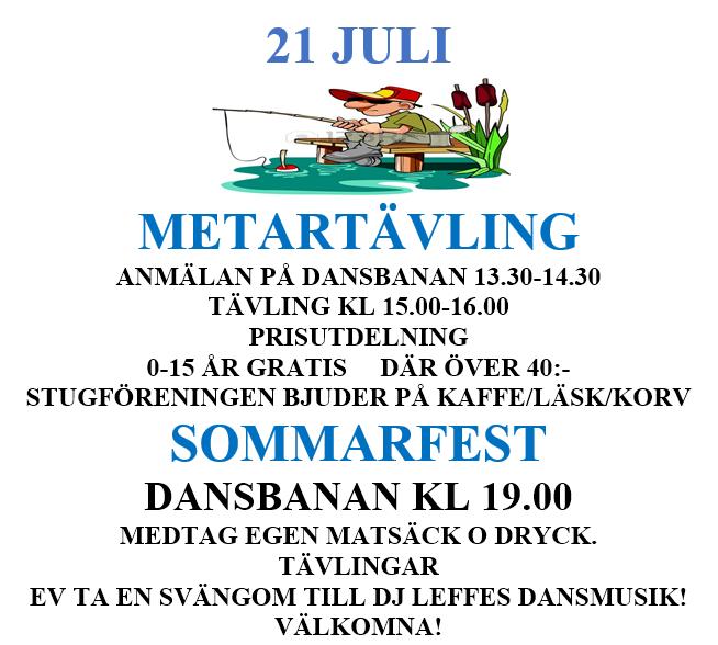 Metartävling och sommarfest 2018-07-21